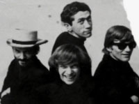 The Sevenths Sons 1966 From left to right Serge Katzen front Buzzy rear Max Ochs and Steve Denaut