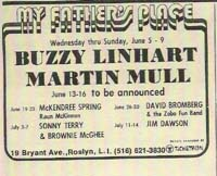 Buzzy Linhart & Martin Mull at My Fathers Place
